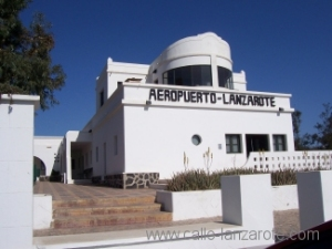 The aeronautical musum at Arrecife airport, the original passenger exit is on the left