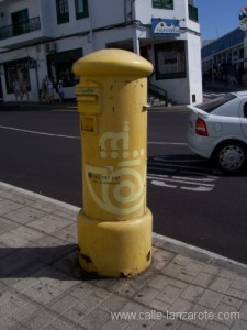 Street corner postbox on Lanzarote