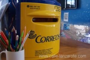 Mini post box in a shop on Lanzarote