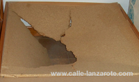 Broken piece of chipboard on Lanzarote
