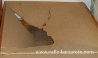 Broken piece of chipboard on Lanzarote
