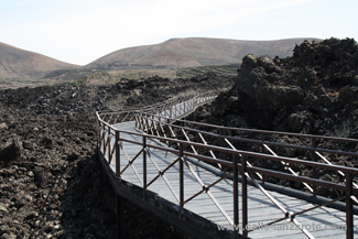 The lava field walkway at Timanfaya Visitors' Centre