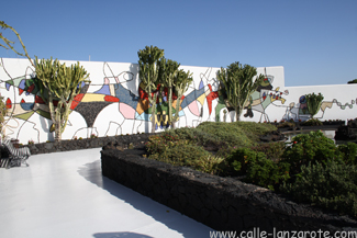 The mural in the garden