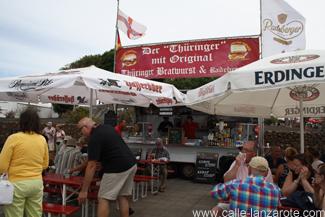 Thüringer Bratwurst am Markt von Teguise
