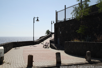 The steps at the end of Calle Teide in Puerto del Carmen