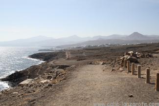 Puerto Calero is in the distance