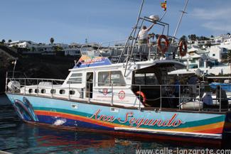 The Waterbus -Ana Segundo- in Puerto del Carmen's Harbour